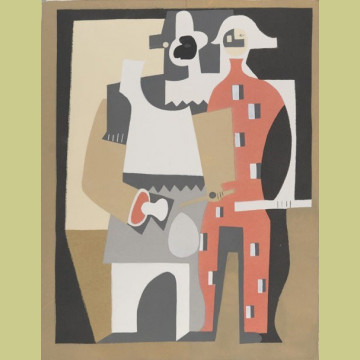 Pablo Picasso (after) Pierrot and Red Harlequin Standing