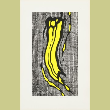 Roy Lichtenstein Yellow Brushstroke