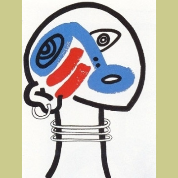 Keith Haring The Story of Red and Blue Plate 17