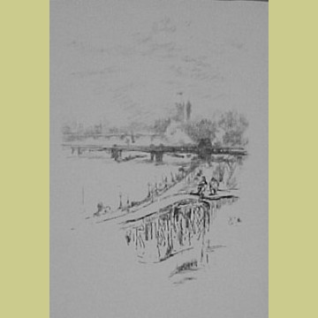 Savoy Pigeons Original James McNeill Whistler Lithograph 1896 Savoy Pigeons
