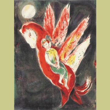 Marc Chagall The old woman mounted the Irit's back..., from Arabian Nights