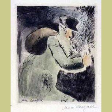 Marc Chagall An Old Jew, from Mein Leiben