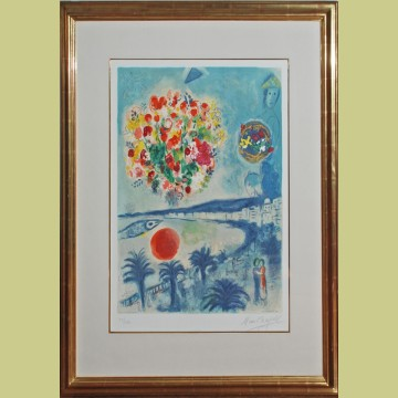 Sunset from nice and the cote d 39 azur georgetown frame for Bernard buffet cote