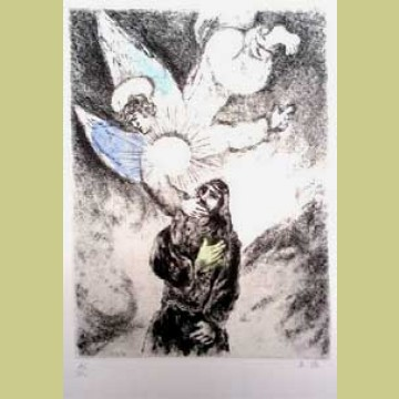 Calling of Jeremiah, from The Bible   Georgetown Frame Shoppe Chagall Gouaches Jeremia
