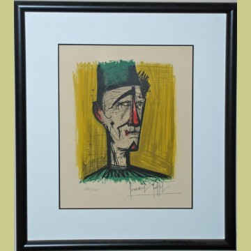 Bernard Buffet Le Clown from Mon Cirque