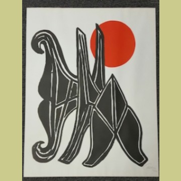 Alexander Calder Young Woman and Her Suitors
