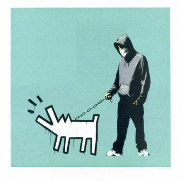 Banksy Choose Your Weapon (Turquoise)