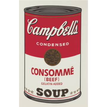 Andy Warhol Campbell's Soup I: Consomme