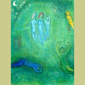 Marc Chagall Daphnis's Dream and the Nymphs, from Daphnis and Chloe