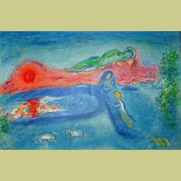 Marc Chagall Death of Dorcon, from Daphnis and Chloe