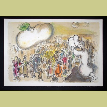Marc Chagall Moses Beholds All the Work, from The Story of Exodus