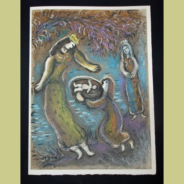 Marc Chagall Pharaoh's Daughter and Moses, from The Story of Exodus