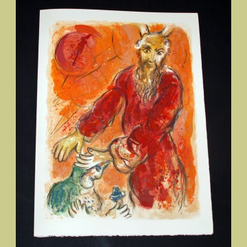 Marc Chagall Moses Blesses Joshua, from The Story of Exodus