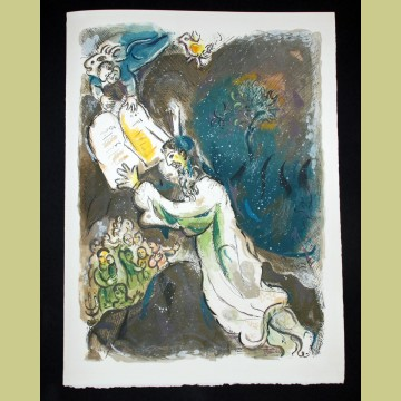 Marc Chagall Two Tablets of the Testimony, from The Story of Exodus