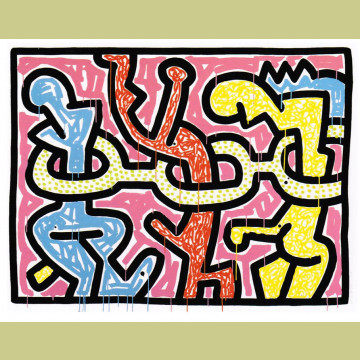 Keith Haring Flowers Plate 2