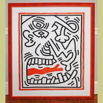 Keith Haring Untitled (Red Tongue)