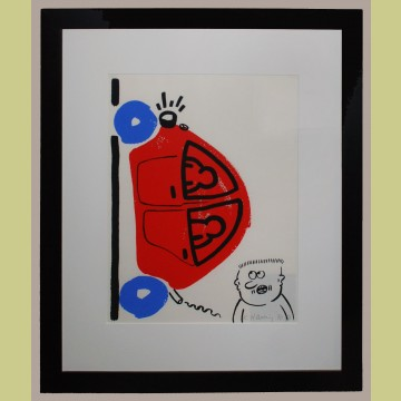 Keith Haring The Story of Red and Blue Plate 16