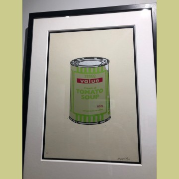 Banksy Soup Can (Sage Green/Lime/Cherry)