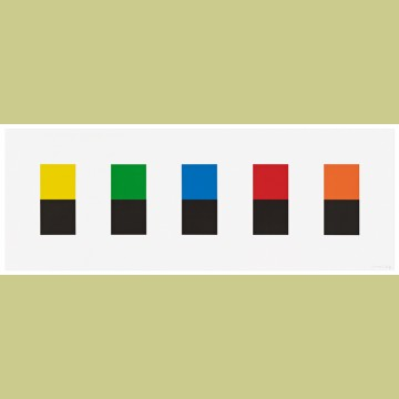 Ellsworth Kelly Color Over Black