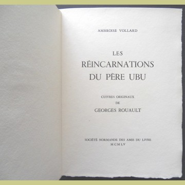 Georges Rouault Title and Justification Pages from The Reincarnations of Pere Ubu