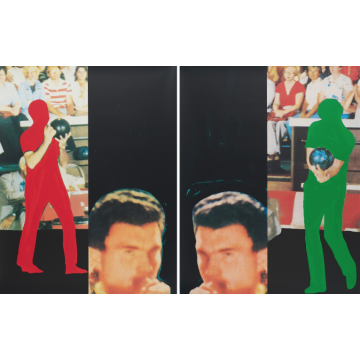 John Baldessari Two Bowlers (with Questioning Person)
