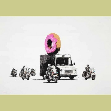 Banksy Donut (Strawberry)