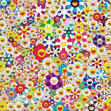 Takashi Murakami If I Could Reach That Field of Flowers, I Would Die Happy