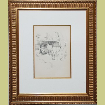 The Smith's Yard Original James McNeill Whistler Lithograph 1895 The Smith's Yard