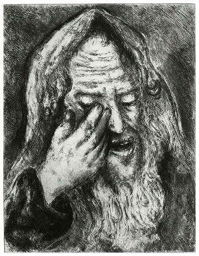 Suffering of Jeremiah, from The Bible   Georgetown Frame ... Chagall Gouaches Jeremia