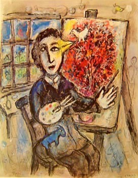 E peintre oiseau georgetown frame shoppe for Chagall peintre