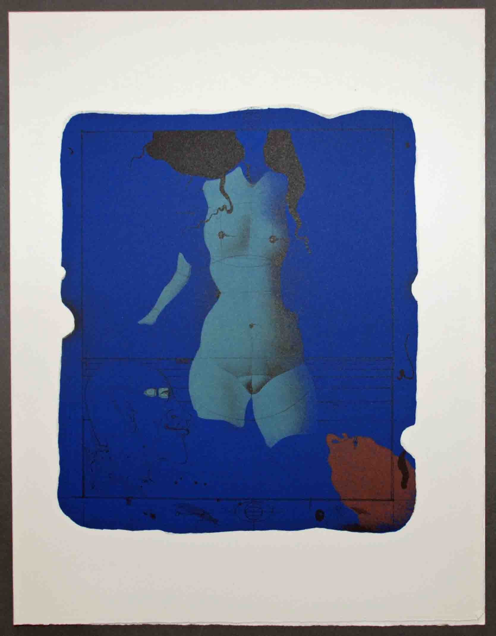 paul wunderlich torso sur une pierre bleue more artists browse by artist georgetown frame. Black Bedroom Furniture Sets. Home Design Ideas