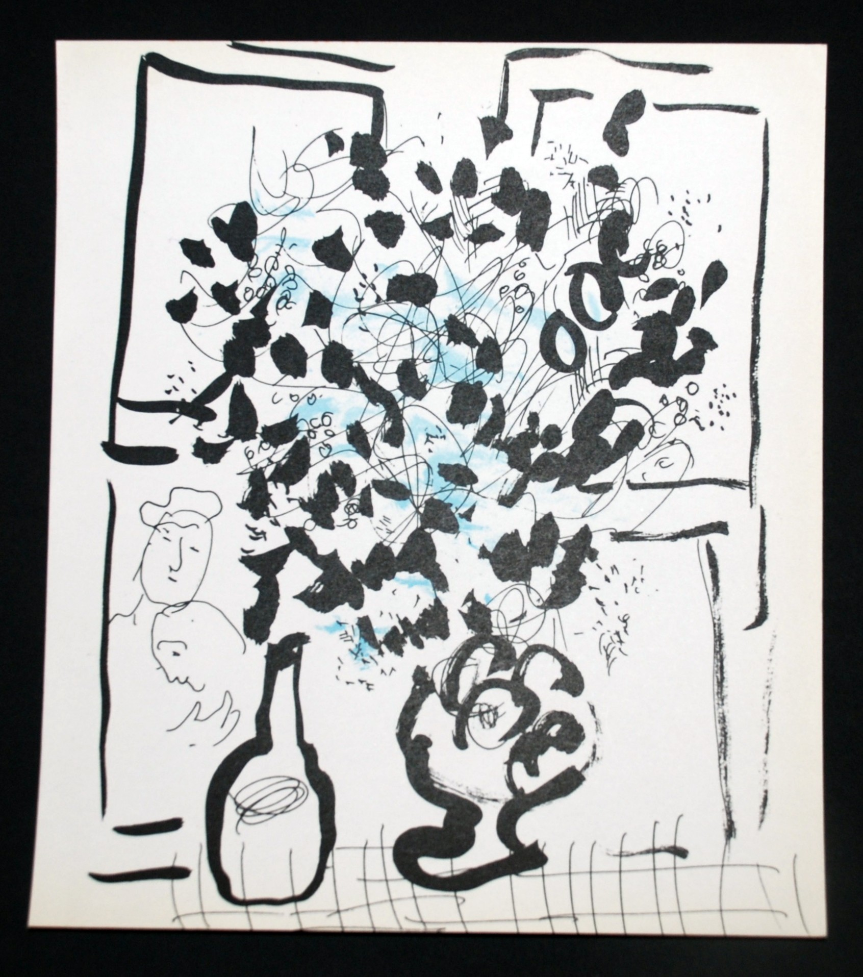 Black and blue bouquet from chagall georgetown frame shoppe marc chagall black and blue bouquet dhlflorist Images