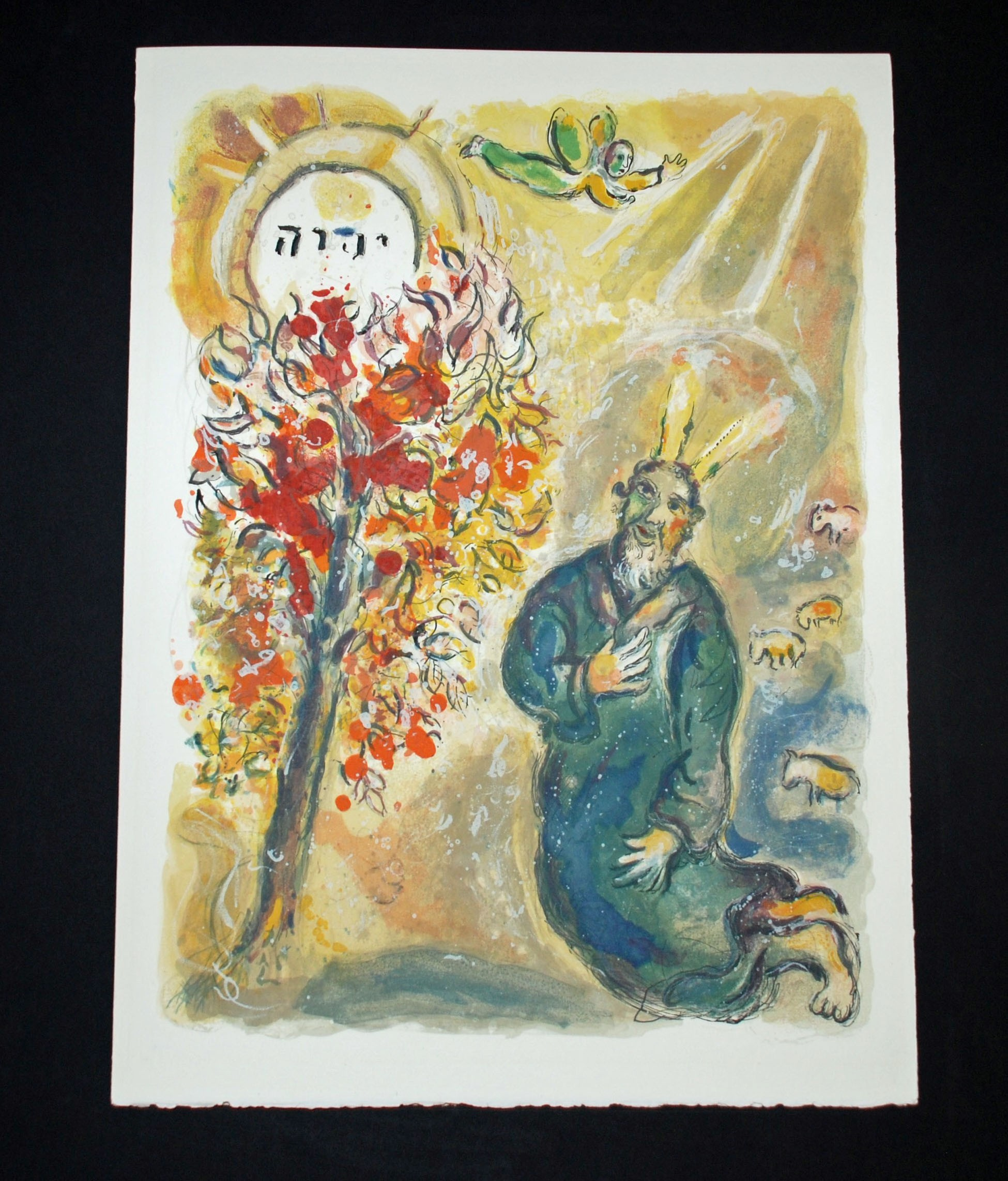 Moses and the Burning Bush, from The Story of Exodus ...