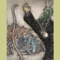 Marc Chagall Moses and the Serpent