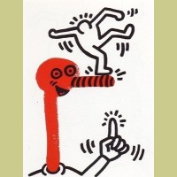 Keith Haring The Story of Red and Blue Plate 1