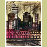 Bernard Buffet Midtown with the Citibank Building