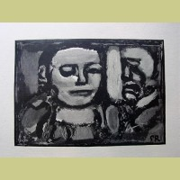 Georges Rouault Two Contemporary Figures