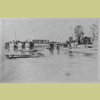 Fulham Original James McNeill Whistler Etching 1879 Fulham