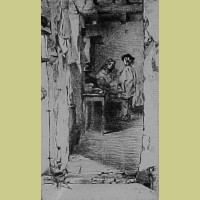 The Rag Gatherers Original James McNeill Whistler Etching 1858 The Rag Gatherers