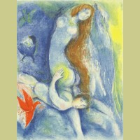 Marc Chagall Then he spent the night with her..., from Arabian Nights
