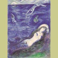 Marc Chagall Then I came forth of the sea..., from Arabian Nights
