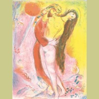 Marc Chagall Disrobing her with his own hand..., from Arabian Nights