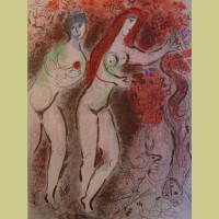 Marc Chagall Adam and Eve and the Forbidden Fruit