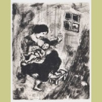 Marc Chagall The Wolf, the Mother, and the Child, from Les Fables de la Fontaine, Volume I