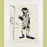 Marc Chagall The Talmudist, from Mein Leiben