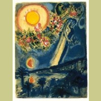 Charles Sorlier after Marc Chagall Fiancés in the Sky at Nice