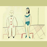 Pablo Picasso (after) Clown and Acrobat