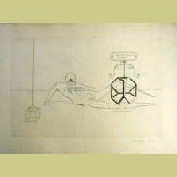 Salvador Dali Immortality of Tetrahedral Cube