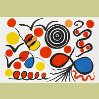 Alexander Calder Spiral, Loops and Birds