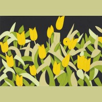 Alex Katz Yellow Tulips